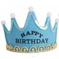 Birthday Crown with lights (Happy Birthday) blue