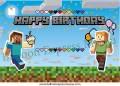 Minecraft Birthday Banner 1 (可加印名字)