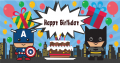 Super Heroes Birthday Banner  (可加名字)