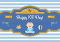 Newborn Boy 100 days / Baby Shower (可加印名字或改文字)