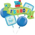 WELCOME LITTLE ONE BOY BOUQUET OF BALLOONS