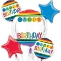 RAINBOW BIRTHDAY PERSONALIZE IT BOUQUET OF BALLOONS