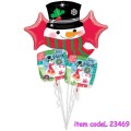 Happy Holidays Snowman Bouquet