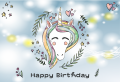 Unicorn Birthday Banner (可加印名字)
