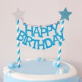 蛋糕插旗Birthday Cake Bunting in blue