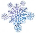 Snowflake Cluster Balloon