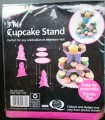 Cardboard cupcake stand in purple & pink
