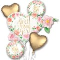 FLORAL BABY GIRL BOUQUET OF BALLOONS