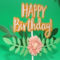 Happy Birthday Flowers cake decorations