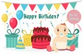 First Birthday Banner 5 (可加印名字)
