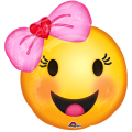Emoji Happy Smiley Face with Bow